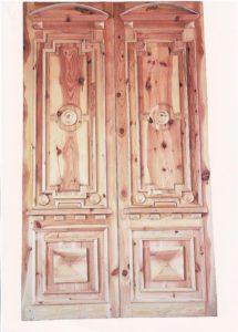 Подарок Негребы Г.П. Роменской ЦРБ – входные двери в земской корпус