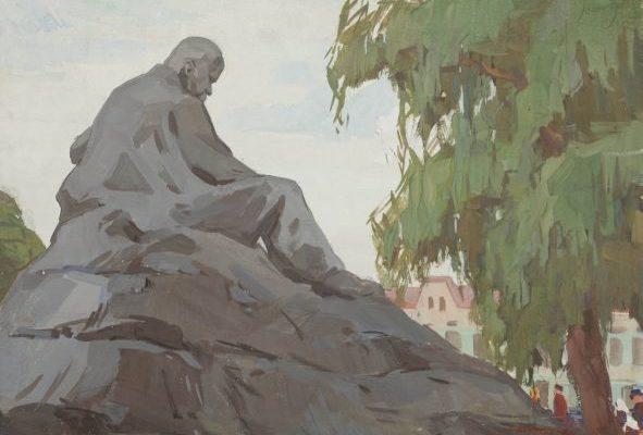 Пам'ятник Т. Г. Шевченку в Ромнах.