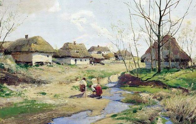 Українське село біля річки