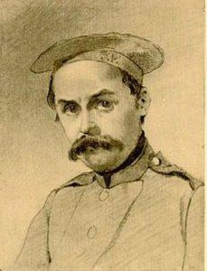 У солдатах. Автопортрет. 1847 р.