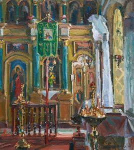 «Интерьер церквы» м.Ромни