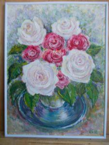 Червоні та білі троянди