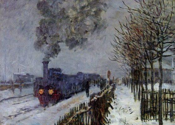Клод Моне. Потяг в снігу.