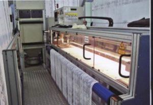 Чудо-техника – германская машина «Герцог», предназначенная для обрезания края тюлевого полотна лазером.
