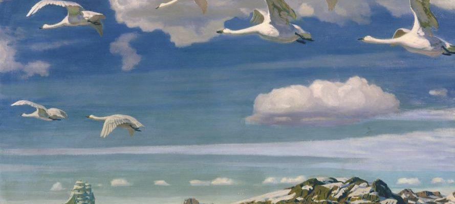 Лебеді летять
