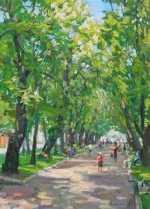 Анастасія Духаніна. Каштанова алея. Місто Ромни, 2013.