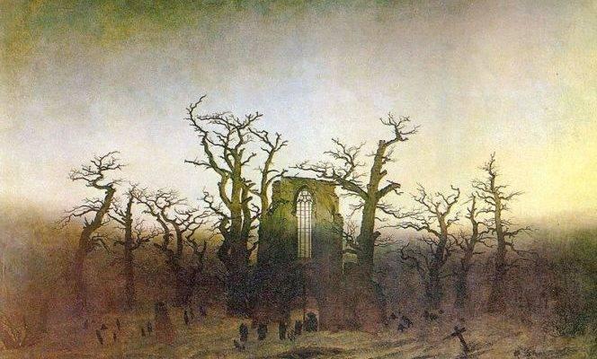 Фридрих Каспар Давид, Аббатство в дубовом лесу