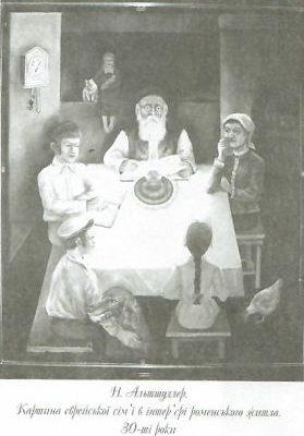 Альтшулер Микола, «Єврейська сім'я за обіднім столом».