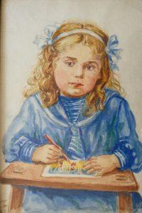 Автопортрет Л.Бреус в дитинстві
