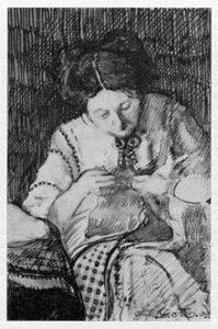 Робота Д.Митрохіна «Аліса Брускетті», туш, 1909 рік