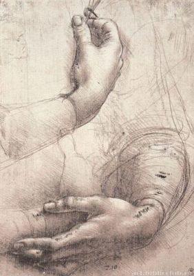 Этюд женских рук. Автор - Леонардо да Винчи