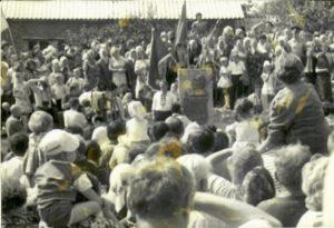 М.Колесов на відкритті пам'ятника І.Калнишевському