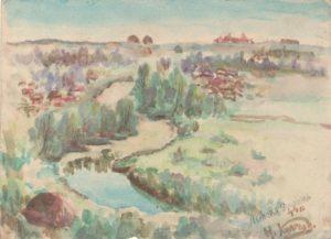 Пейзаж з річкою