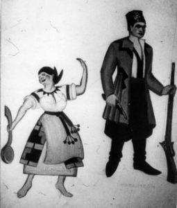 Ескіз декорації до опери «Наталка Полтавка»