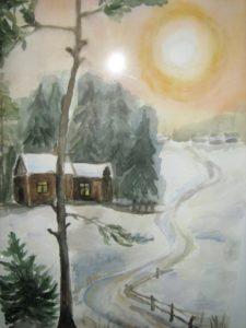 Зимовий пейзаж Юсової Олени