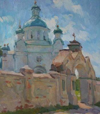 Анастасия Духанина. Ворота у церкви.