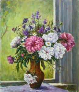 Піони та польові квіти