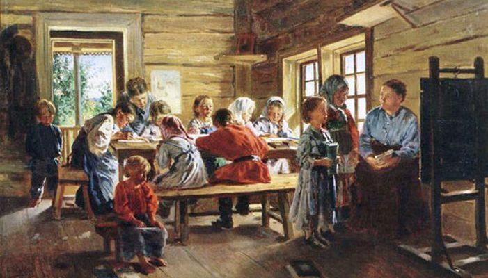 Маковский. В сельской школе.