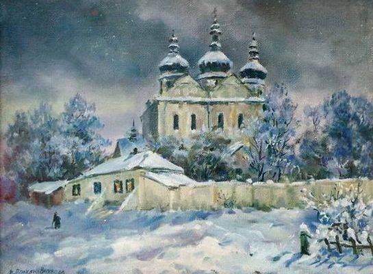 Надія Полуян-Внукова. Собор вночі.