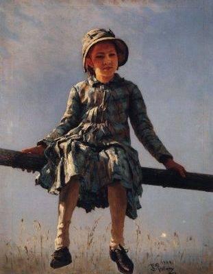 Илья Репин. Стрекоза. 1884.