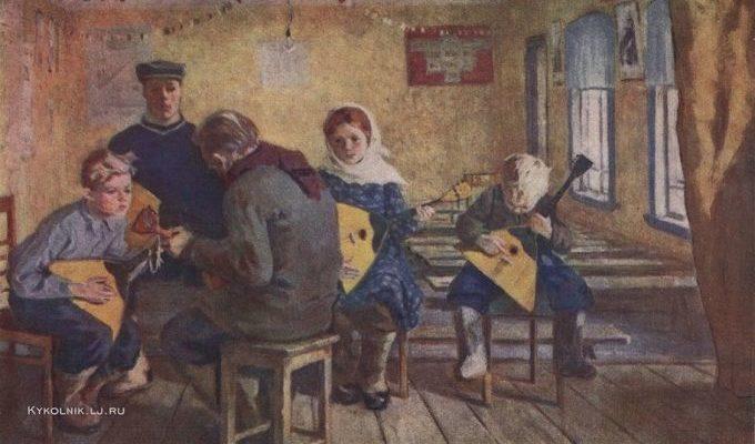 Шевандронова Ирина Васильевна (1928-1993) «К вечеру самодеятельности» 1961