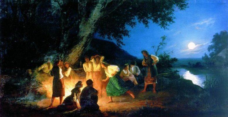 Ночь накануне Ивана Купалы. 1880-е. Генрих Ипполитович Семирадский