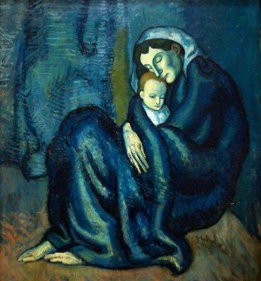 П. Пікассо. Мати з дитиною.