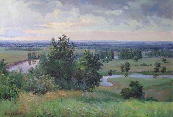 Нестор Кизенко. Пейзаж з річкою.