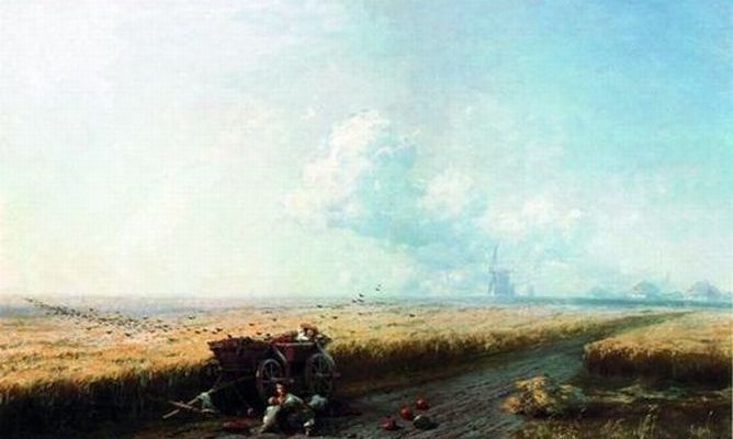 Иван Айвазовский «Во время жатвы на Украине»