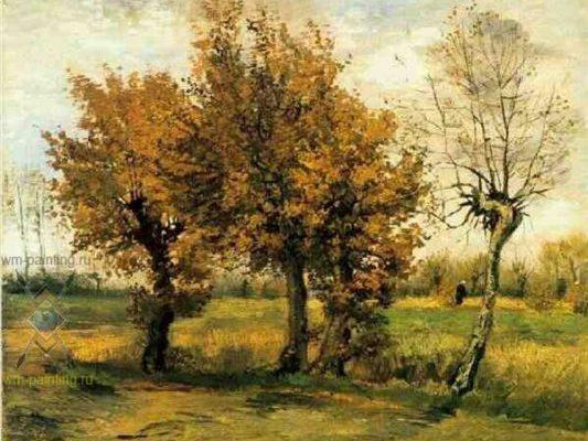 Ван Гог. Чотири дерева. Осінь.