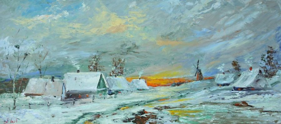 Україна. Зима в селі.