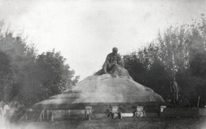 Підготовка до відкриття пам'ятника, 1918 р.