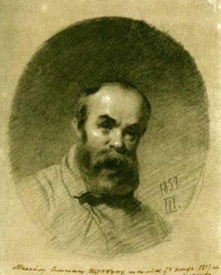 Тарас Шевченко, автопортрет 1858 року