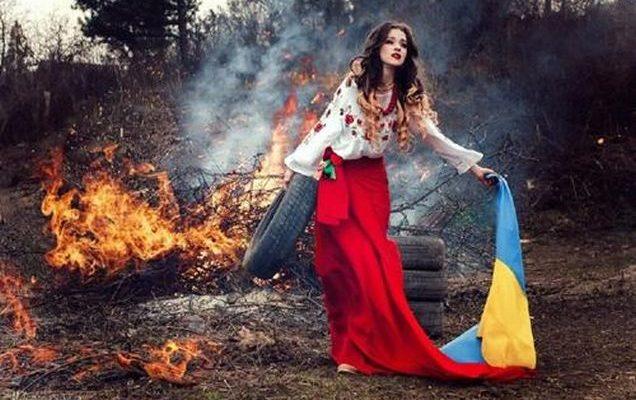 Україна в полум'ї та сльозах