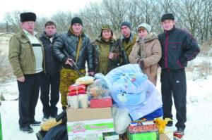 Волонтери привезли подарунки воїнам Роменщини на Донбасі