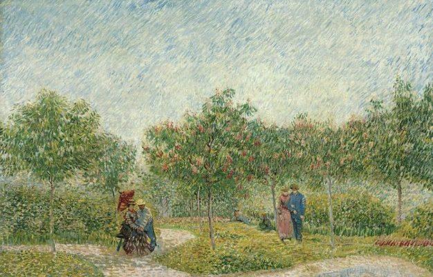Гог Винсент Виллем ван. Сад в Монмартре с любовниками.
