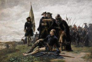 Король Карл ХІІ і Гетьман Іван Мазепа після Полтавської битви. Г. Седерстрем.1880 р.