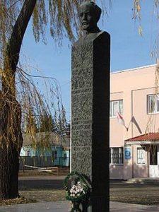 Бюст Миколи Леонтовича на алеї видатних земляків у Вінниці