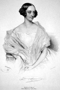 Марія ТАЛЬОНІ (1804-1884 рр.ж.). Літографія Йозефа Кріхубера, 1839 рік. Джерело: https://uk.wikipedia.org/wiki/