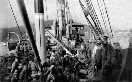 Війська на пароплаві
